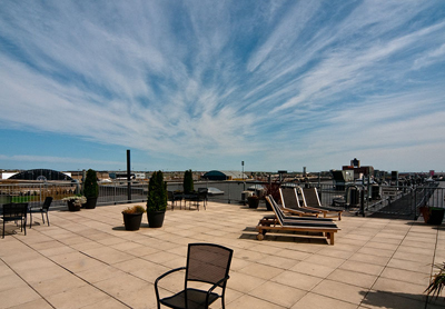 Roof Deck if Lofts for Sale at Porter 156 East Boston